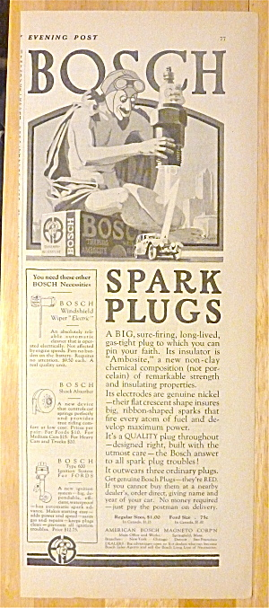 1924 Bosch Spark Plugs with Devil Zapping Car (Image1)
