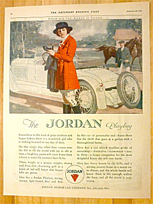 1921 Jordan Playboy With Woman Wearing Riding Gear