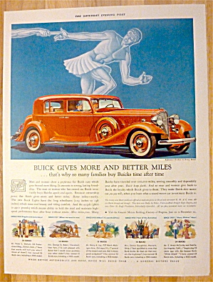 1933 Buick With Buick Gives More & Better Miles