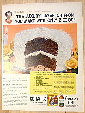 1954 Softasilk & Wesson Oil w/Lovelight Chocolate Cake (Image1)