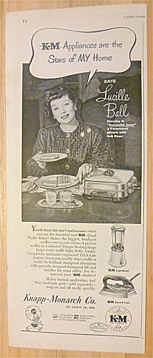 1949 Knapp Monarch Appliances w/ Lucille Ball (Image1)
