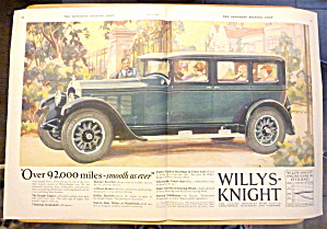 1927 Willys Knight With The Willys Knight Automobile