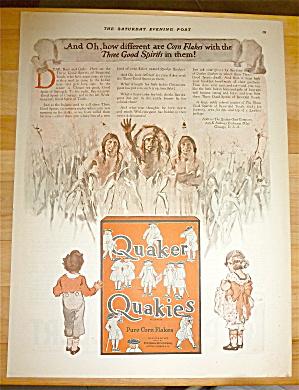 1921 Quaker Quakies Cereal with 2 Children  (Image1)
