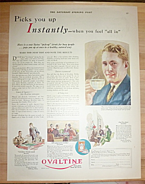 1928 Ovaltine with Man Drinking a Cup  (Image1)