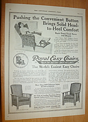 1918 Royal Easy Chair With Woman Sitting In Chair