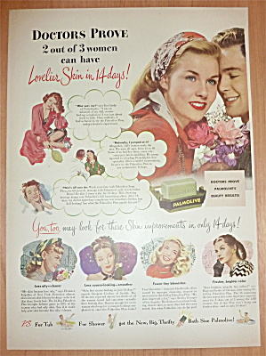 1947 Palmolive Soap with Lovely Woman with Man (Image1)