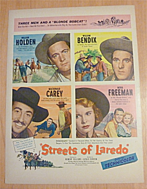 1949 Streets Of Laredo with Holden, Bendix & Carey  (Image1)