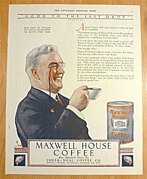 1923 Maxwell House Coffee w/ Man Drinking Cup Of Coffee (Image1)