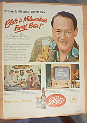 1951 Blatz Beer With William Gargan