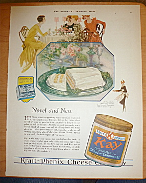 1928 Kraft Kay Spread W/bread & Cream Cheese