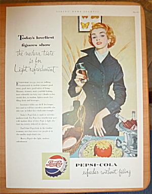 1953 Pepsi Cola (Pepsi) With Woman Holding Glass
