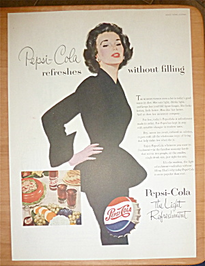 1953 Pepsi Cola (Pepsi) With Woman In A Black Dress