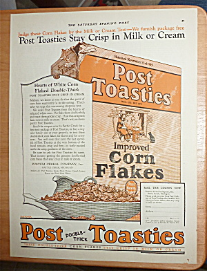 1924 Post Toasties With A Box & Bowl Of Post Toasties