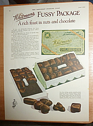 1927 Whitman's Fussy Chocolates w/Box Of Candy  (Image1)
