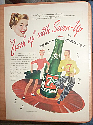 1946 7 Up (Seven Up) With Boy & Girl Dancing