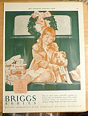 1927 Briggs Body With Little Girl & Puppy At Christmas