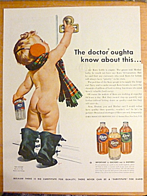 1945 Karo Syrup with Nude Baby Ringing Door Bell  (Image1)