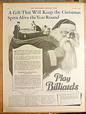 1927 Play Billiards With Santa Claus