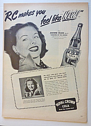 1950 Royal Crown Cola (RC Cola) with Jeanne Crain  (Image1)