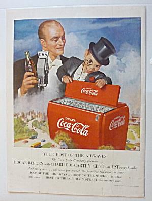 1950 Coca Cola (Coke) w/Edgar Bergen & Charlie McCarthy (Image1)