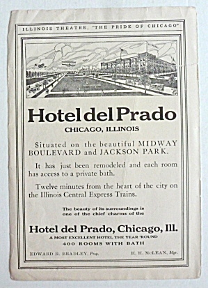 1910's Hotel Del Prado With The Hotel Del Prado