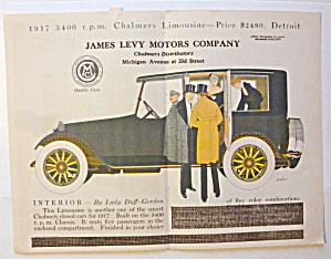 1917 James Levy Motors Company W/chalmers Limousine