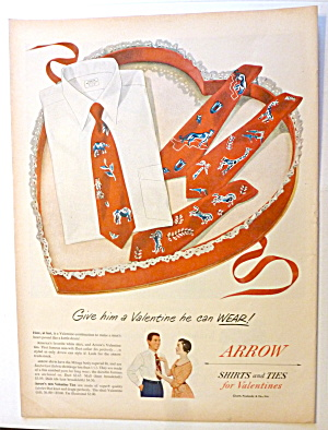 1950 Arrow Shirts & Ties with Shirt & Tie In Valentine (Image1)