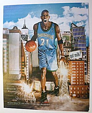 2001 Got Milk with Basketball's Kevin Garnett (Image1)