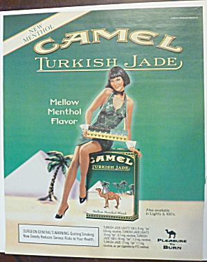 2001 Camel Cigarettes With Lovely Woman