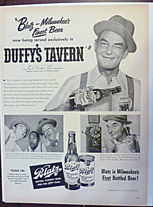 "1950 Blatz Beer With Ed ""archie"" Gardner"