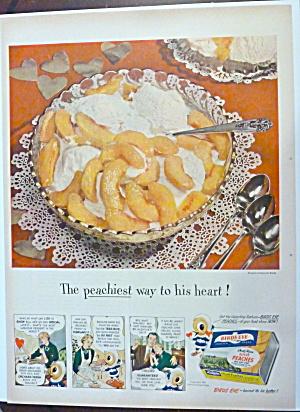 1950 Birds Eye Sliced Peaches with Ice Cream  (Image1)