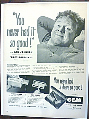 1950 Gem Razor & Push Pak with Van Johnson (Image1)