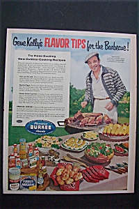 Vintage Ad: 1955 Gene Kelly's Flavor Tips For Barbecue