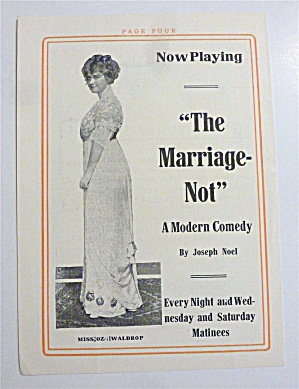 1912 The Marriage Not Modern Comedy with Lovely Woman  (Image1)
