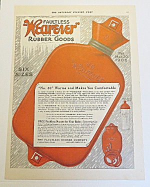 1921 Wearever Rubber Goods With Water Bottle