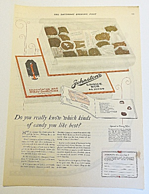 1923 Johnston's Chocolates With Box Of Candy (Image1)