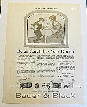 1923 Bauer & Black With Mom Bandaging Boy's Finger (Image1)