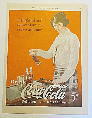 1923 Coca Cola (Coke) With Woman Holding Bottle