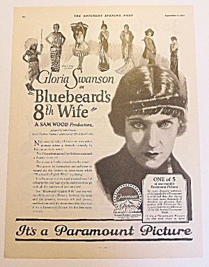 1923 Bluebeard's 8th Wife With Gloria Swanson