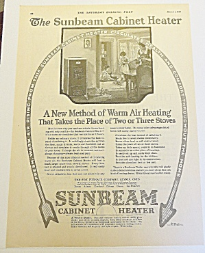 1924 Sunbeam Cabinet Heater With Mom & Kids (Image1)