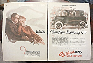 1924 Overland Cars With Overland Champion