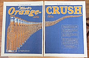 1924 Orange Crush With Line Of Soda Bottles