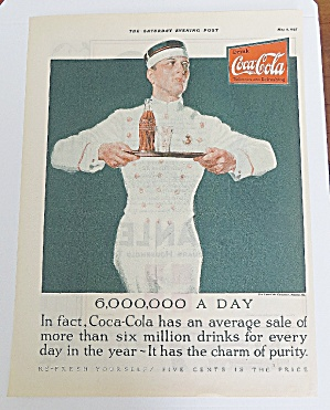 1925 Coca Cola (Coke) With Soda Boy Carrying Tray