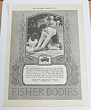 1925 Fisher Body With Boy Chasing Chicks