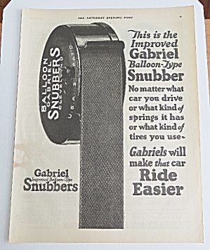 1925 Gabriel Snubbers With Balloon Type Snubber