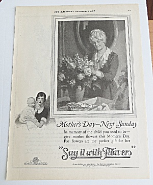 1925 Say It With Flowers With Woman Arranging Flowers (Image1)