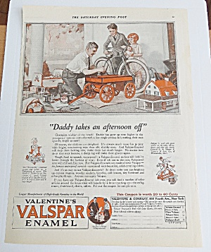 1925 Valentine's Valspar Enamel With Man Painting Wagon (Image1)