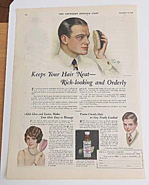 1925 Glostora With Man Combing Hair By Earl Christy (Image1)