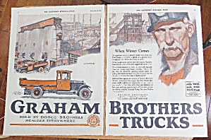 1925 Graham Brothers Trucks With Dump Truck
