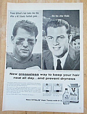 1957 Vitalis With New York Giants Frank Gifford's Hair (Image1)